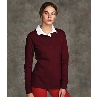 Front Row Lds L/S Classic Rugby Shirt
