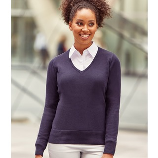 Russell Lds V Neck Sweater