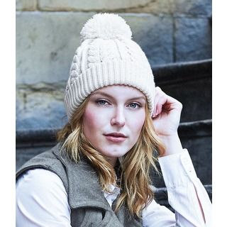 B/field Cable Knit Snowstar Beanie