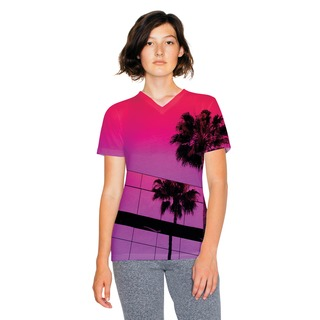 A. A. Lds Sublimation V-Neck T