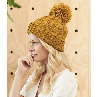 B/field Cable Knit Melange Beanie