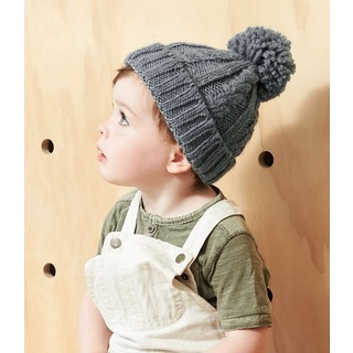 B/field Infant Cable Knit Melange Beanie