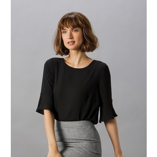 Clay.&Ford Lds R/F Fluted Sleeve Top
