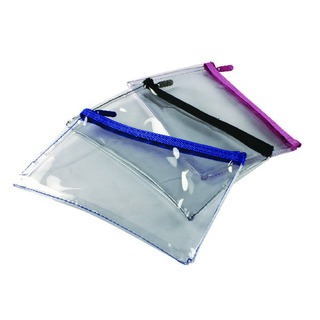 Clear Pencil Case 200x125mm Assorted (12 Pack) M7704