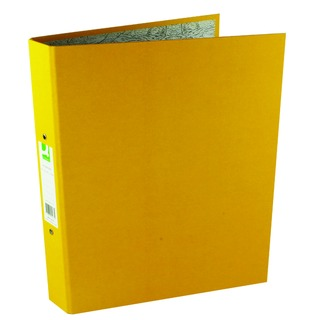 2 Ring 25mm Paper Over Board Yellow A4 Binder (10 Pack)