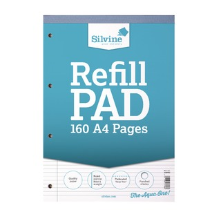 A4 Punched 4 Hole Refill Pads (6 Pack) A4RPNM