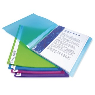 A4 Flexi Display Book 10 Pocket Bright Assorted (10 Pack) 091