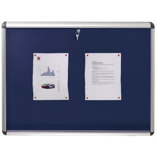 Lockable 965x665mm Blue Visual Insert Board 190204