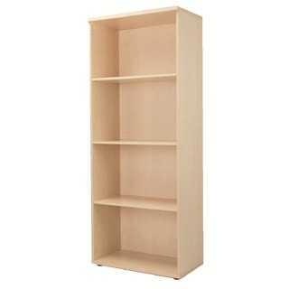 Maple 2000mm Bookcase 4 Shelf