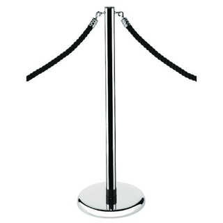 Economy Chrome Rope Stand RS-CL-CH-SET