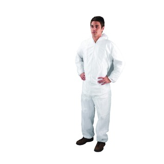 X Large White Non-Woven Coverall DC