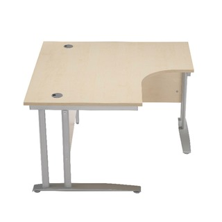 1200mm LH Cantilever Radial Desk Oak