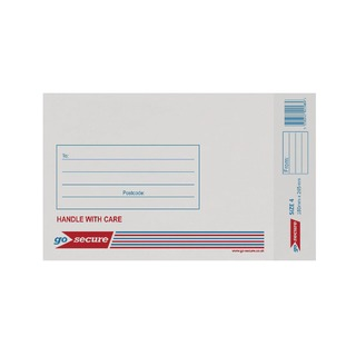 Bubble Lined Envelope Size 4 180x265mm White (20 Pack)