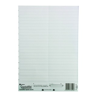 Crystalfile Classic Linked Top Tab Inserts White (50 Pack)