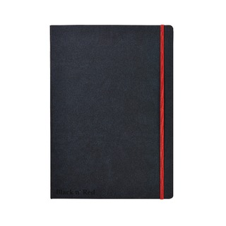 ' Red A4 Black Casebound Hardback Notebook 400038675