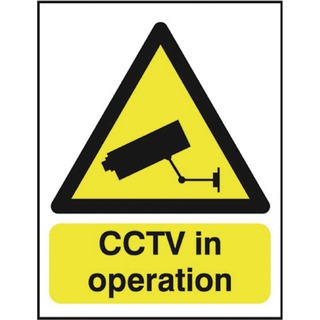 Warning Sign CCTV In Operation A5 PVC GN0075