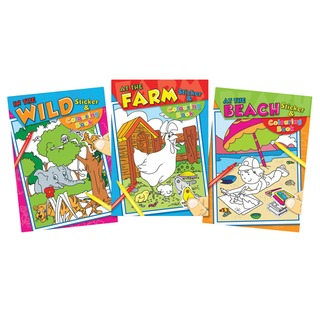 Colouring and Sticker (12 Pack)