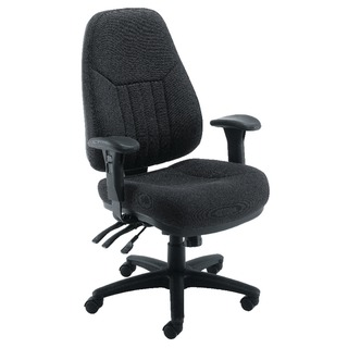 sta Lucania High Back Task Black Chair