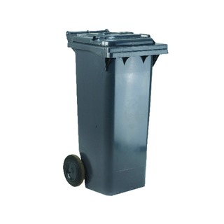 2 Wheel Grey Refuse Container 140 Litre 33