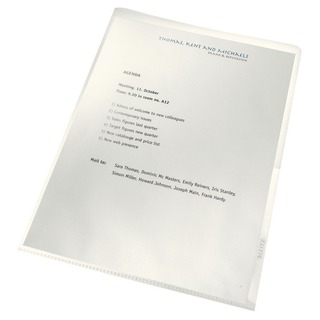 Re:Cycle Cut Flush Folders Clear (100 Pack) 4001-00-0