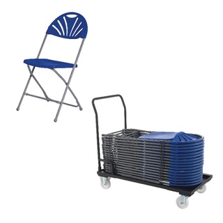 Exam Chair Blue (40 Pack) and Trolley Promotion
