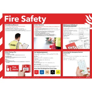 Health and Safety 420x594mm Fire Safety Poster FA60