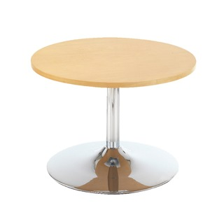 Beech Low Bistro Table With Trumpet Base