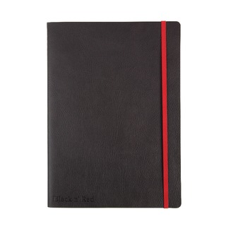' Red B5 Black Soft Cover Notebook 400051