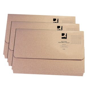 Recycled Buff Kraft Document Wallet (50 Pack)