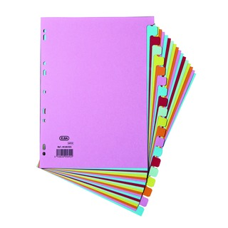 A4 20 Part Assorted Card Divider 10008077