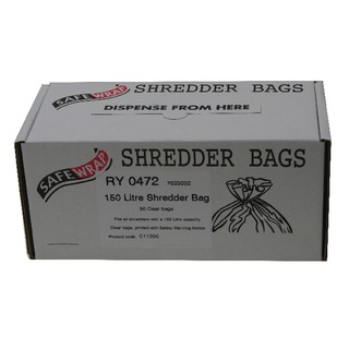 Safewrap 150 Litre Shredder Bags (50 Pack) RY0472