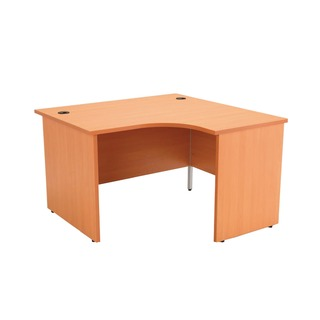 Beech Right Hand Panel End 1200mm Radial Desk