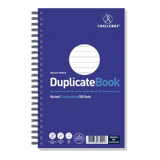 Wirebound Duplicate Book Ruled Carbonless 50 Sets 210 x 130mm (5 Pack) 100080469
