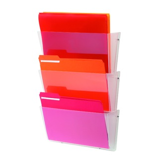 Clear A4 Linked Wall File Pockets (3 Pack) DE736YTCRY