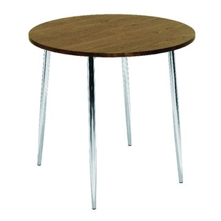 Walnut and Chrome Round Bistro Table
