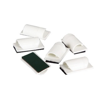 Cable Tidy clips 6Pk White self adhesive ctclips6aw