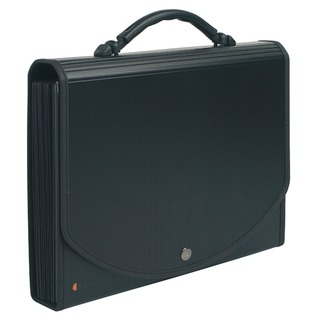 Exacase Expanding Multi-Part File 13-Compartments Black 55934E