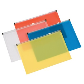 Assorted A4 Document Zip Wallet (20 Pack)