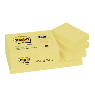 Post-it Notes Recycled 38 x 51mm Canary Yellow (12 Pack) 653-