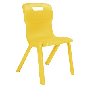 1 Piece 380mm Yellow Chair (10 Pack)