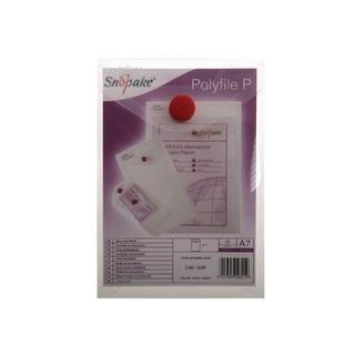 Clear A7 Portrait Polyfile P File Wallet (5 Pack) 13306
