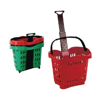 Giant Red Shopping Basket/Trolley