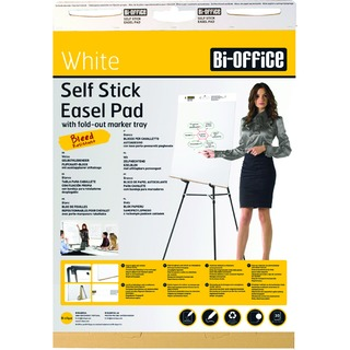 Self-Stick White 635x780mm Flipchart Pad 30 Sheets FL128