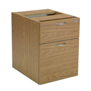 2 Drawer Fixed Pedestal Oak