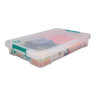 12 Litre Clear W550xD360xH90mm Store Box