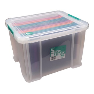 36 Litre Clear W480xD380xH320mm Store Box