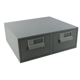 6x4 Inches Double Grey Card Index Cabinet FCB2