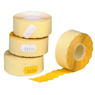 Price Marking Label Single-Line Yellow Roll of 1500 12mm x 26mm Peelable