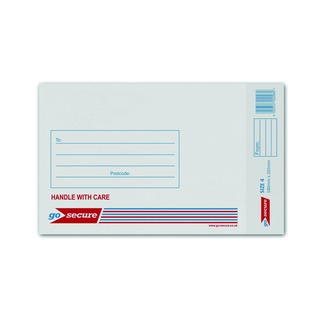 Bubble Lined Envelope Size 4 180x265mm White (100 Pack)