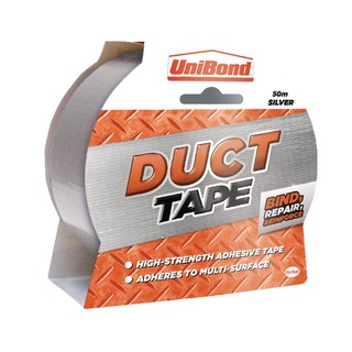 Silver 50mmx50m Duct Tape 140519